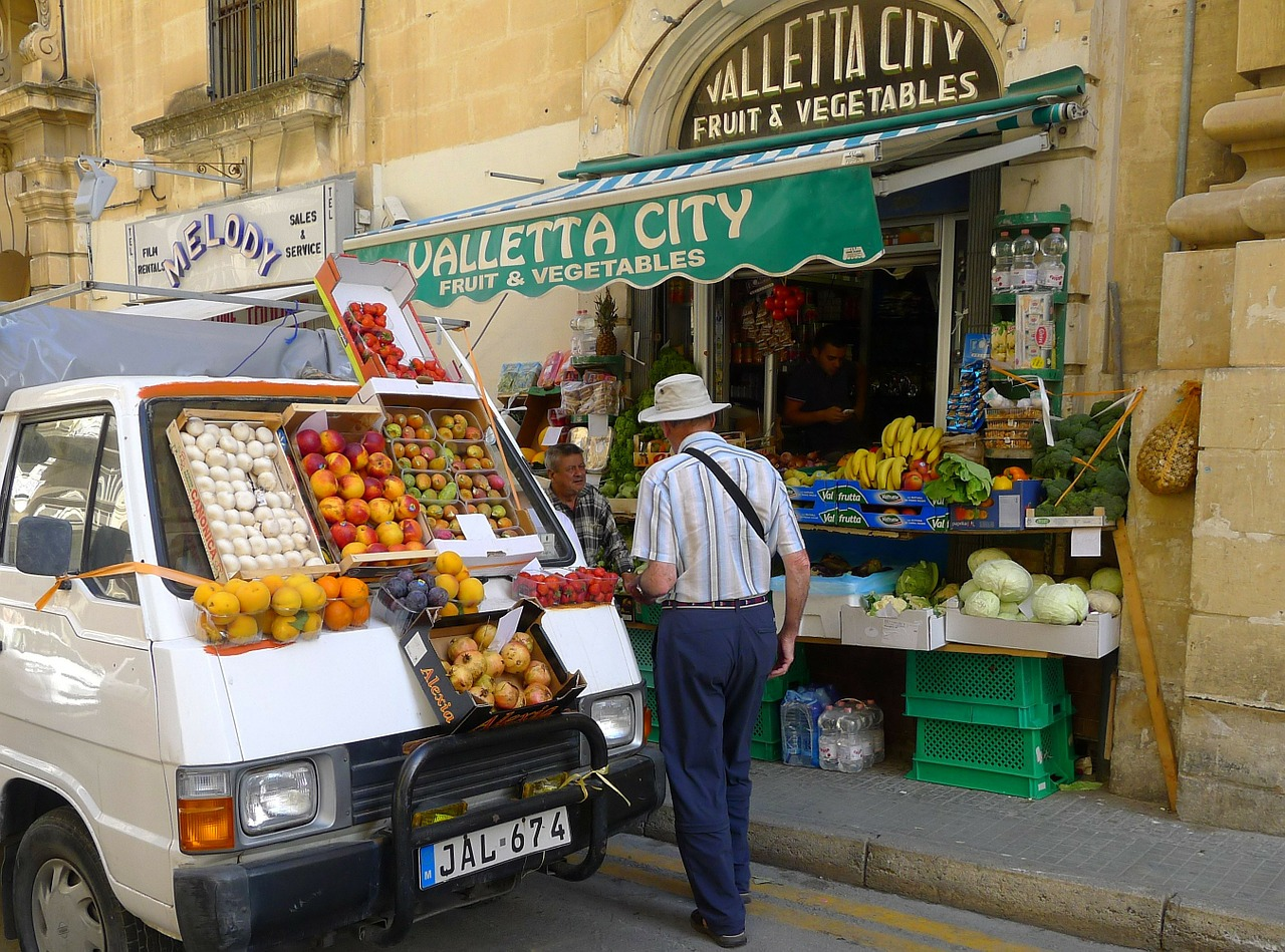 Fruit Vendor in Valletta