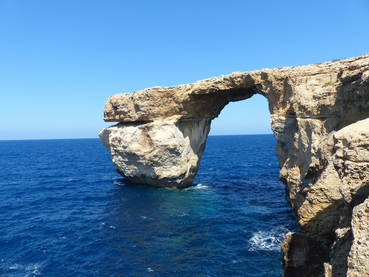 The famous Azure window in Gozo.
