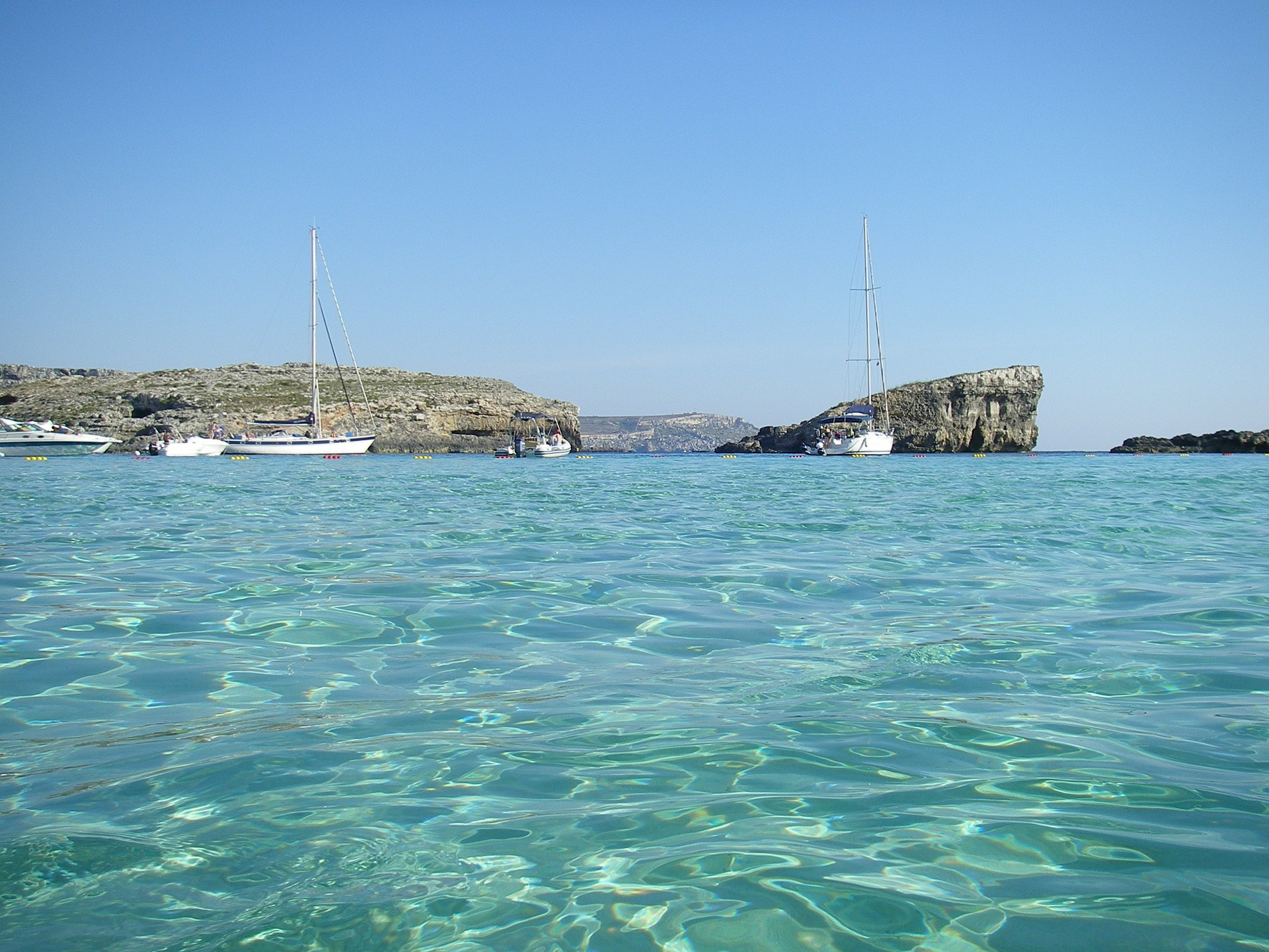 Swimming in Comino